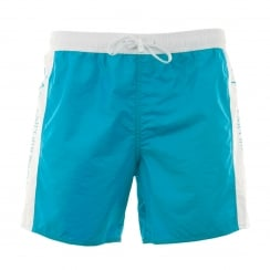 EA7 Mens Sea World Bi Colour Swim Shorts (Turquoise)