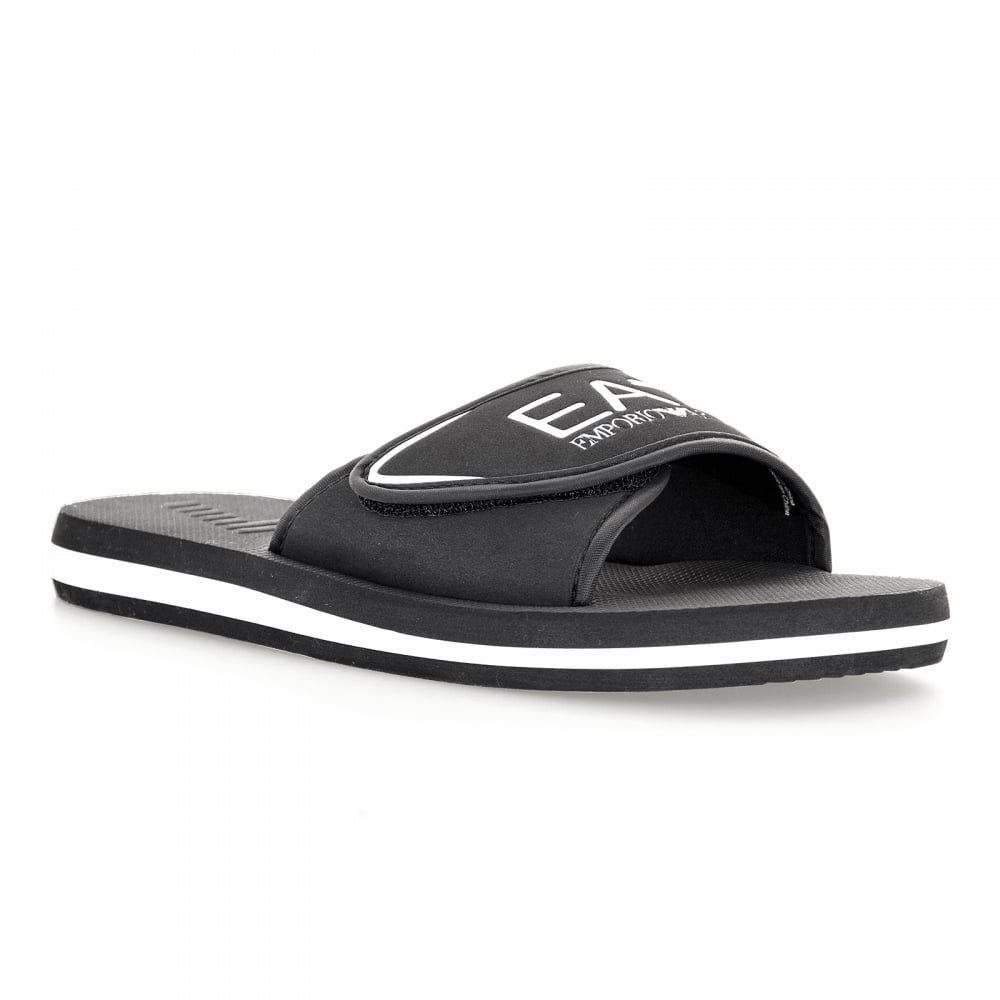 f8ecaa2a1 EA7 Mens Sea World Slide Flip Flops (Black) - Mens from Loofes UK
