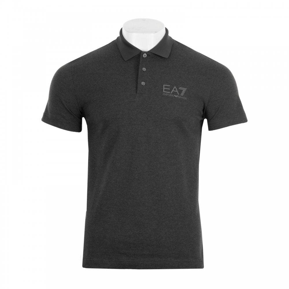 EA7 Mens Short Sleeve Small Logo Polo Shirt (Carbon) - Mens from ... bd85cb2f95595