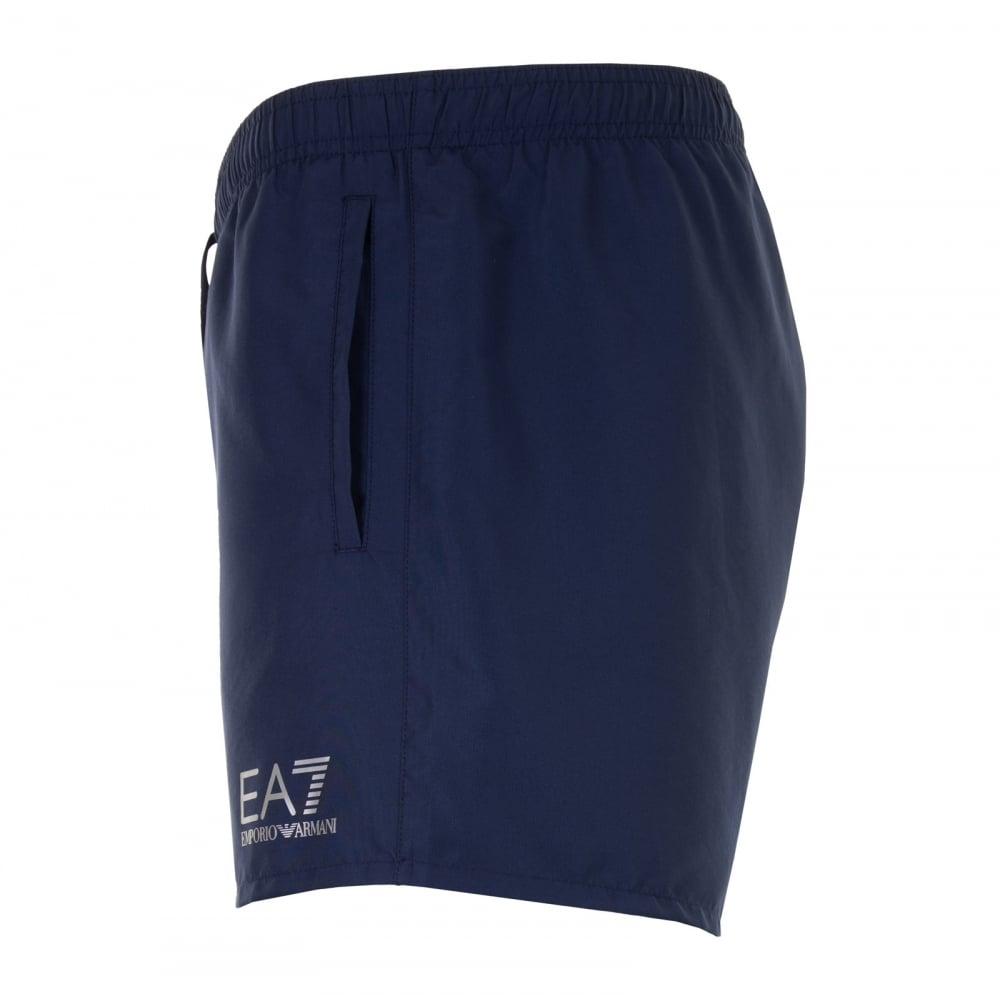 d6aeff64c8 EA7 Mens Small Logo Swim Shorts (Navy) - Mens from Loofes UK