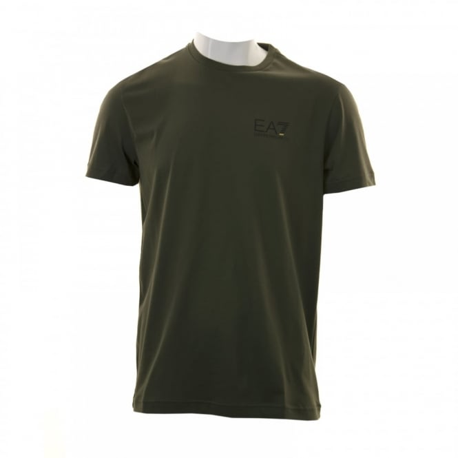 EA7 Mens Small Logo T-Shirt (Khaki)