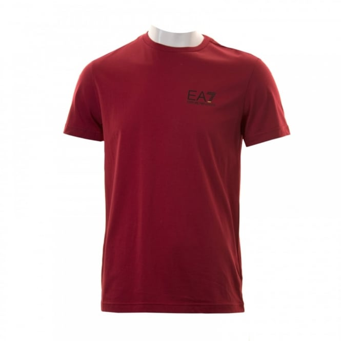 EA7 Mens Small Logo T-Shirt (Red)