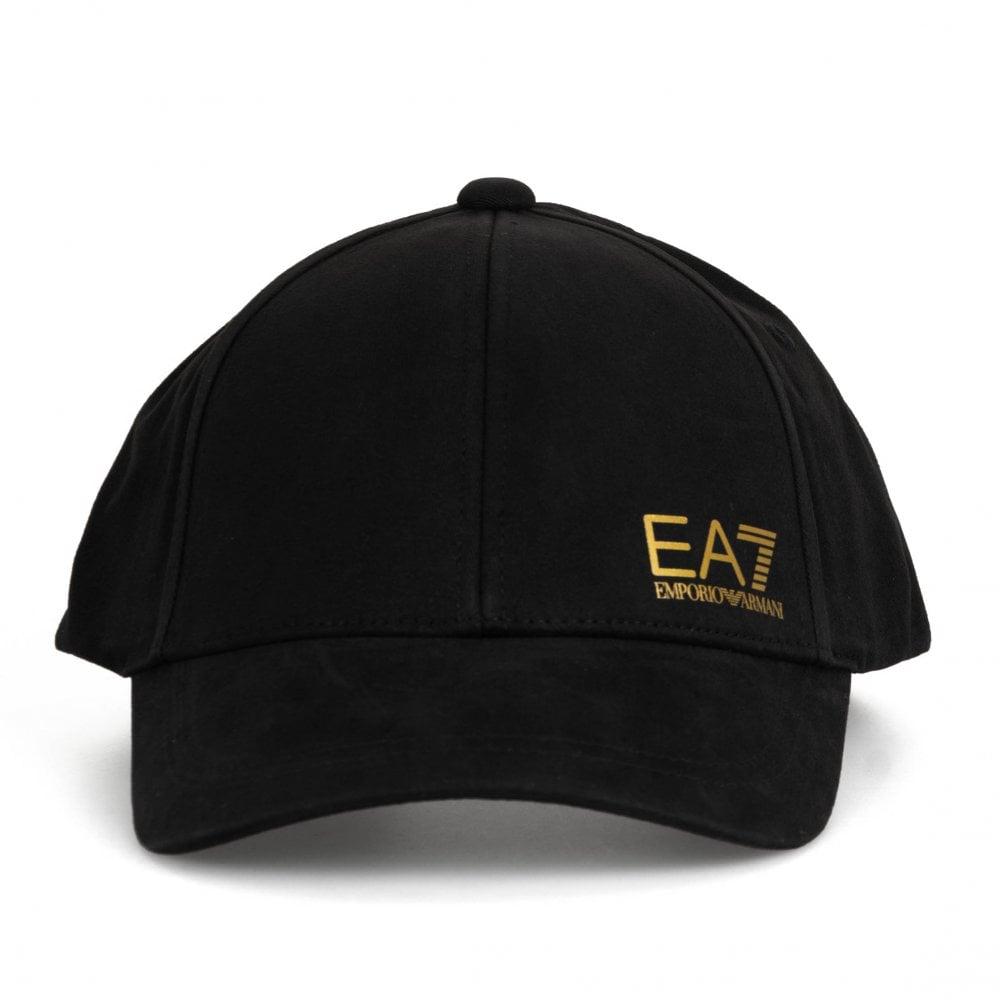 6a1b104dda03c0 EA7 Mens Train Core Baseball Cap (Black / Gold) - Mens from Loofes UK