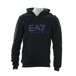 EA7 Mens Triple Logo Hooded Sweatshirt (Navy)
