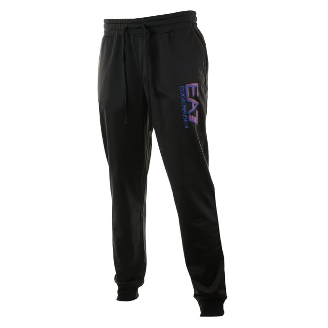 EA7 Mens Triple Logo Track Pants (Black)