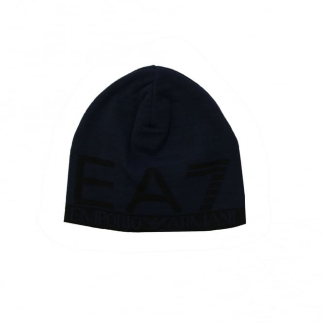 EA7 Train Visibility M Beanie Hat (Navy)