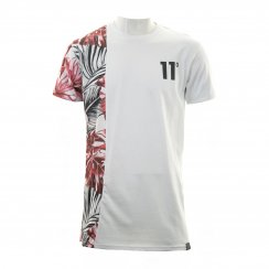 Eleven Degrees Mens Vertical Jungle T-shirt (White)