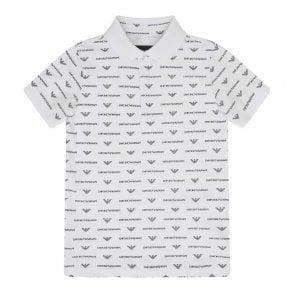 b2b47d670 EMPORIO ARMANI Emporio Armani Juniors Side Print Logo Polo Shirt ...