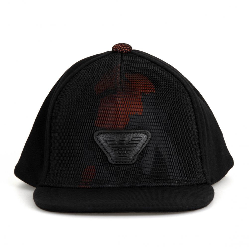 9e7a2c97 Armani Emporio Armani Juniors Baseball Cap (Black) - Kids from Loofes UK