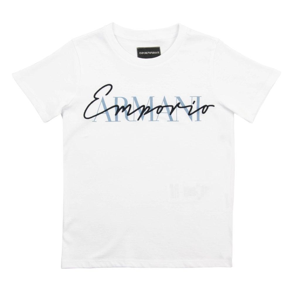 le plus fiable le plus fiable grand choix de Juniors Embroidered Logo T-Shirt (White)