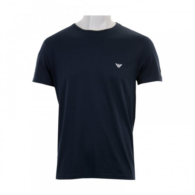 Emporio Armani Mens Badge T-Shirt (Navy)