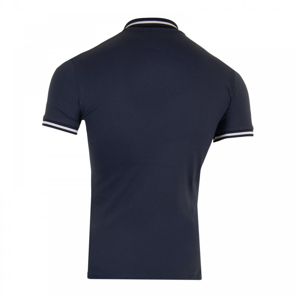 7241c8f9f1 Mens Contrast Collar Polo Shirt (Navy)