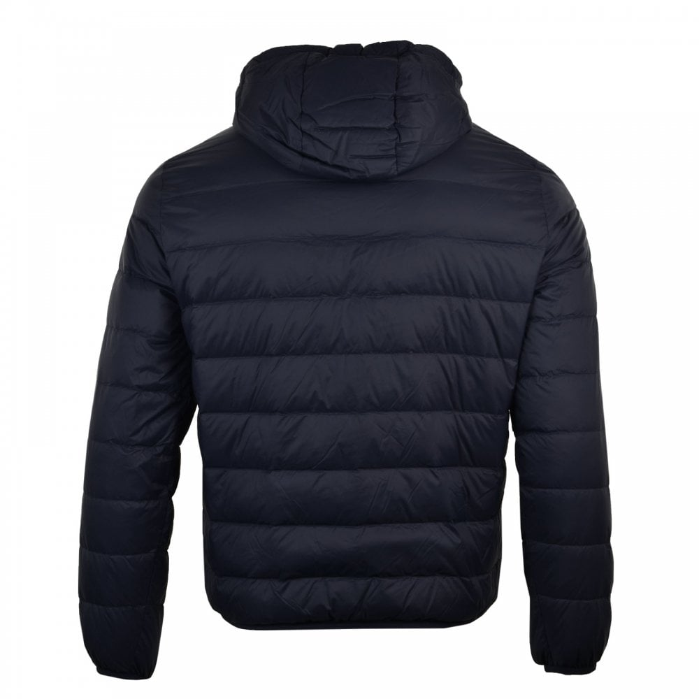 8309d9736f Mens Hooded Down Jacket (Navy)
