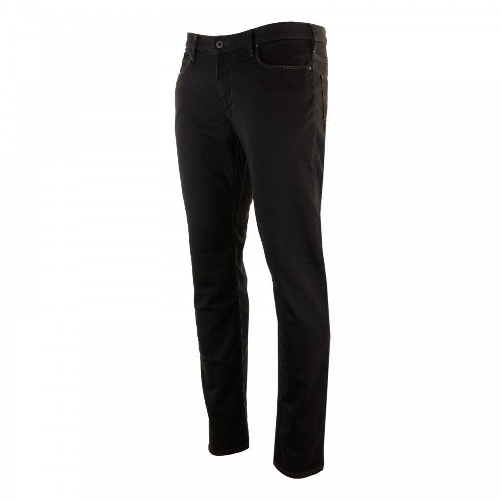 11bb8e87 EMPORIO ARMANI Emporio Armani Mens J06 Slim Fit Jeans (Black) - Mens ...