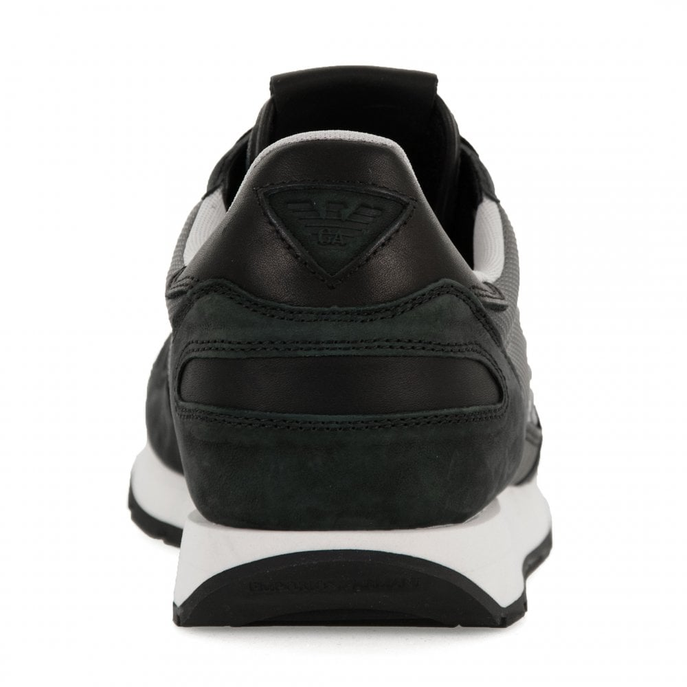 686143dc Mens Logo Trainers (Black/Grey)