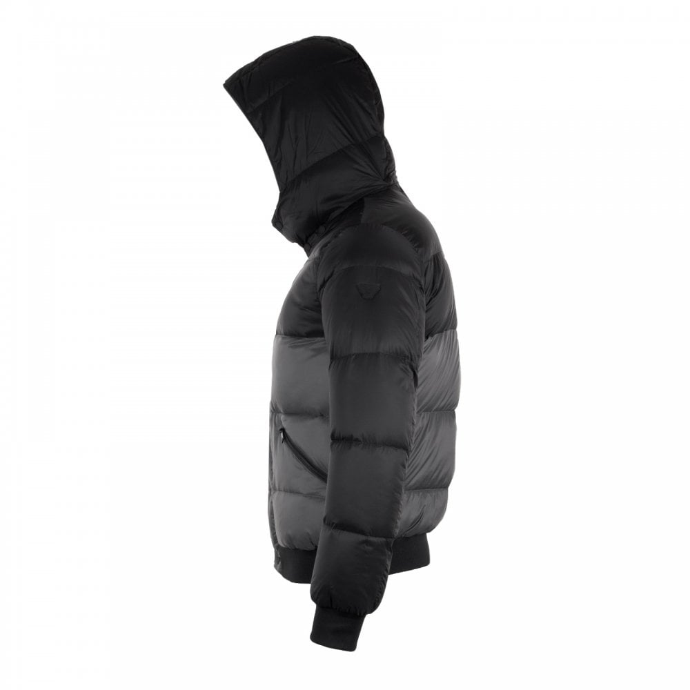 aaaa7d74d8 Mens Quilted Down Jacket (Black/Grey)