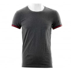 Emporio Armani Mens Sleeve Tipped Crew T-Shirt (Anthracite)