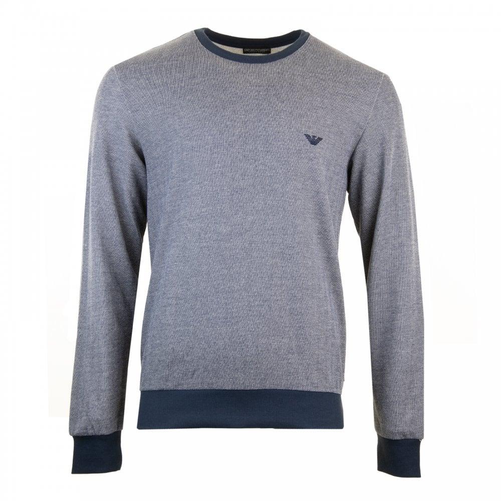 c1f1e65198 EMPORIO ARMANI Emporio Armani Mens Underwear Embroidered Logo Sweatshirt  (Marine)