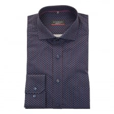 Eterna Mens Red Dot Shirt (Navy)