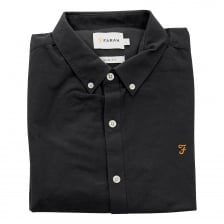 Farah Mens Brewer Oxford Slim Fit Shirt (Black)