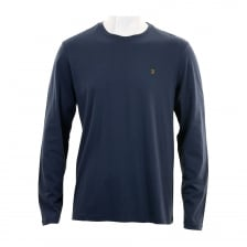 Farah Mens Denny Crew Neck T-Shirt (Navy)