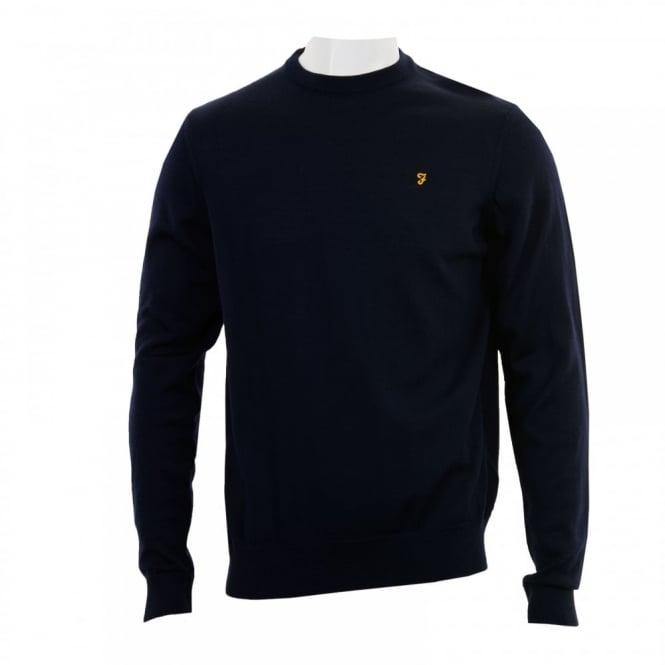 Farah Mens Mullen Crew Neck Sweater (Navy)