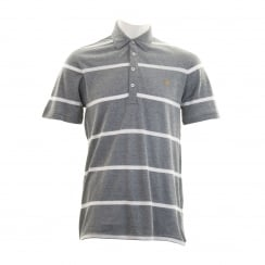 Farah Mens Seymour Stripe Polo Shirt (Navy/White)