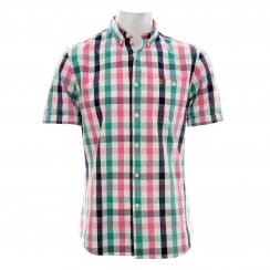 Farah Vintage Mens The Chiltern Short Sleeve Shirt (Azealia)