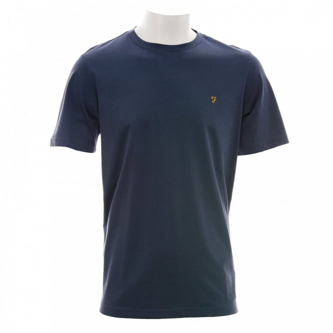 Farah Vintage Mens The Denny Tee-Shirt (Navy)