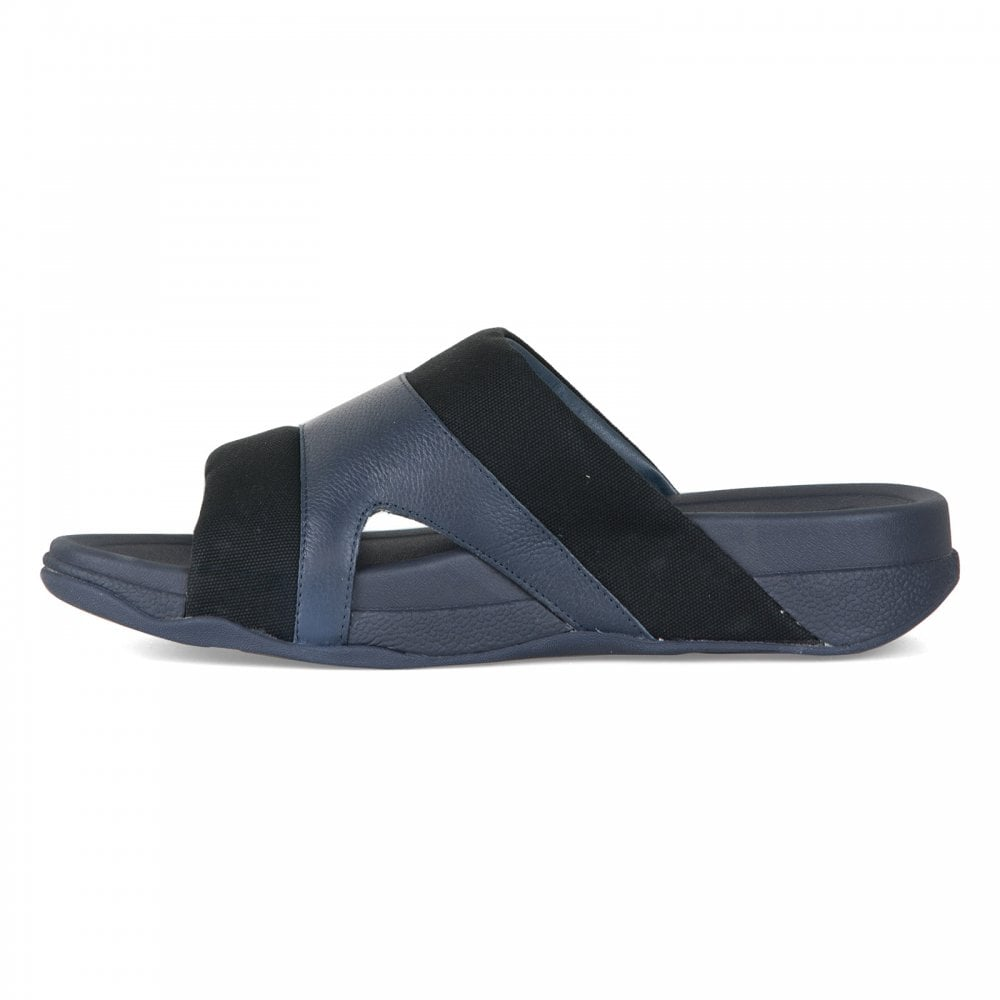 0bd71d5581cbcf FitFlop Fitflop Mens Freeway Pool Slides (Black) - Mens from Loofes UK