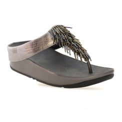 FitFlop Womens Cha Cha Sandals (Nimbus Silver)