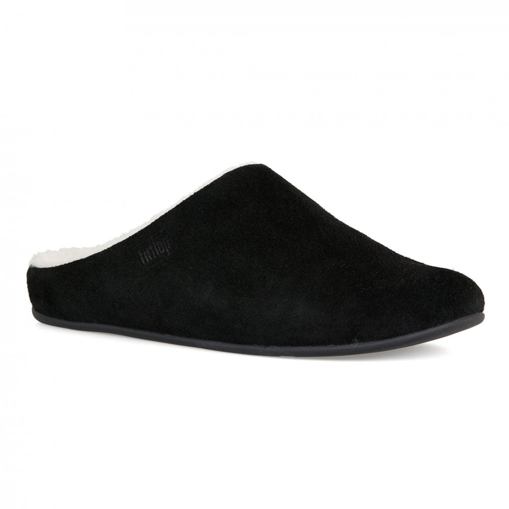 830c87bf6 FitFlop Fitflop Womens Chrissie Fleece Slippers (Black) - Womens ...