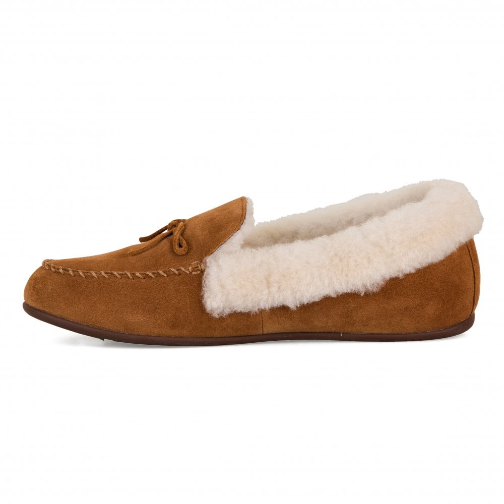 91a662b5cf2e FitFlop Fitflop Womens Clara Fleece Moccasin Slippers (Tan) - Womens ...