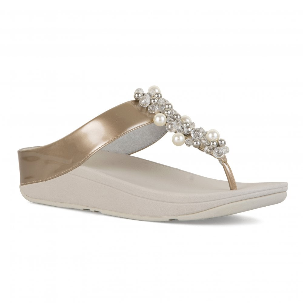 8141dae66188fc FitFlop Fitflop Womens Deco Sandals (Silver) - Womens from Loofes UK