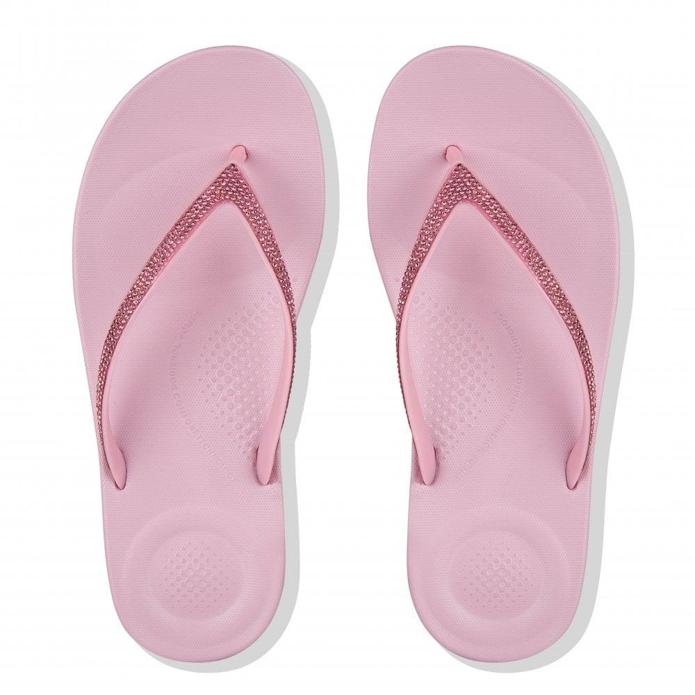 8b6d1e9dfbf2 FitFlop Womens Iqushion Sparkle Flip Flops (Pink) - Flip Flops ...