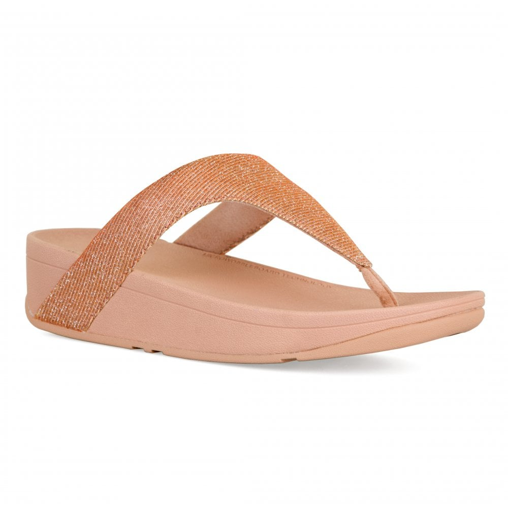 d3f5fbb79184 FitFlop Womens Lottie Glitzy Sandals (Rose Gold) - Womens from Loofes UK