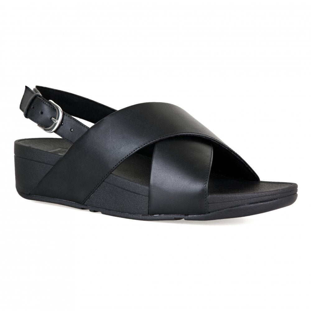 85be8c7db FitFlop Womens Lulu Cross Back Strap Sandals (Black) - Womens from ...