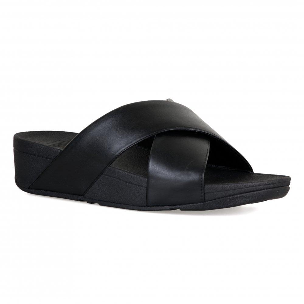 FitFlop Womens Lulu Cross Slide Sandals