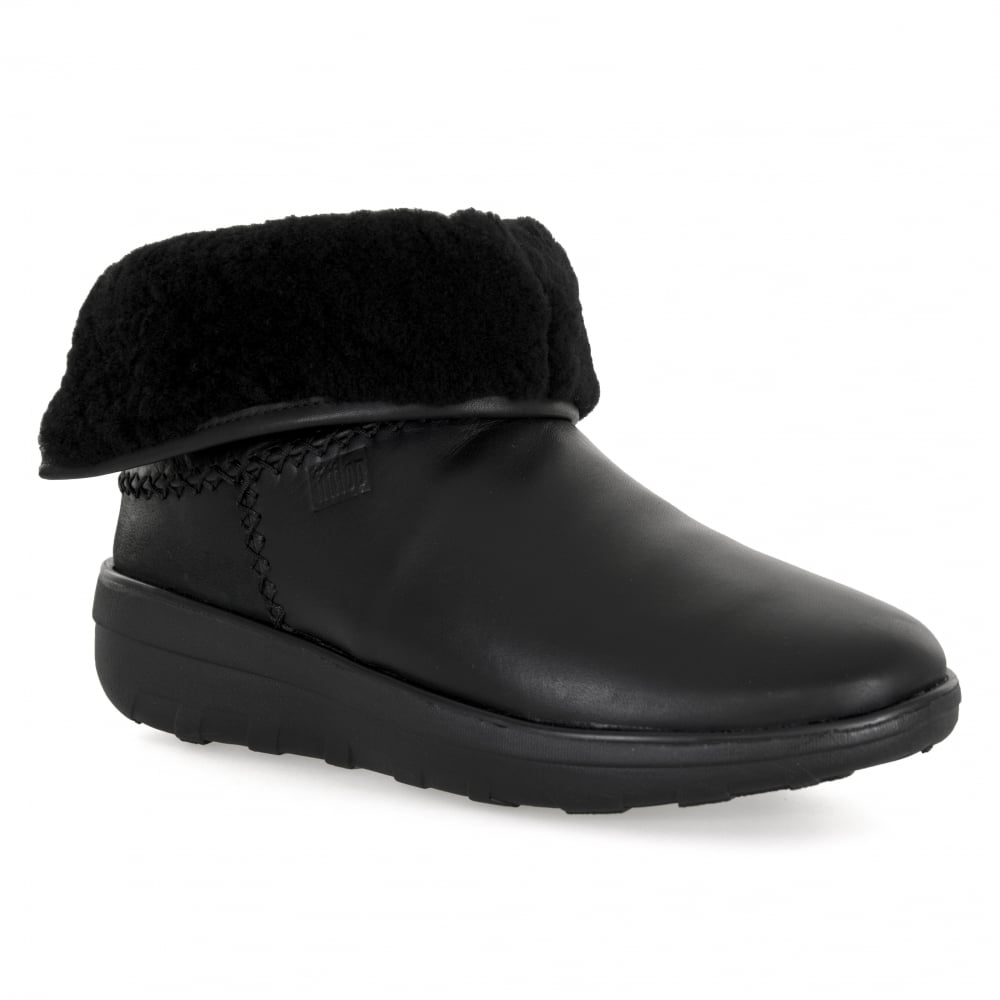 776fc83fa434b FitFlop Womens Mukluk Shorty Leather Boots (Black) - Womens from ...