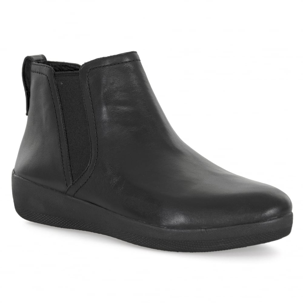 4f8ca82e036 Fitflop FitFlop Womens Superchealsea 317 Boots (Black) - Womens from ...