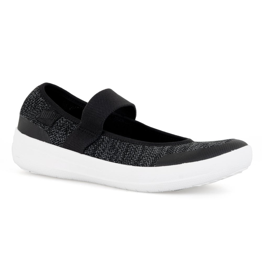 ce48db813efd39 FitFlop Womens Uberknit Mary Jane Trainers (Black) - Womens from ...