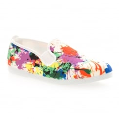 Flossy Youths Ronda Plimsoll (White/Multi-Coloured)