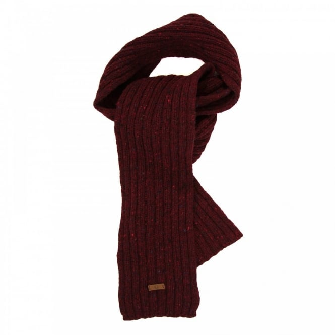 Fred Perry Donegal Ribbed Scarf (Red)