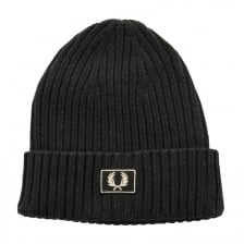 Fred Perry Mens 2 Tone Cotton Beanie (Black)