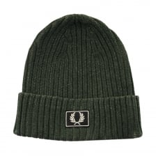 Fred Perry Mens 2 Tone Cotton Beanie (Green)