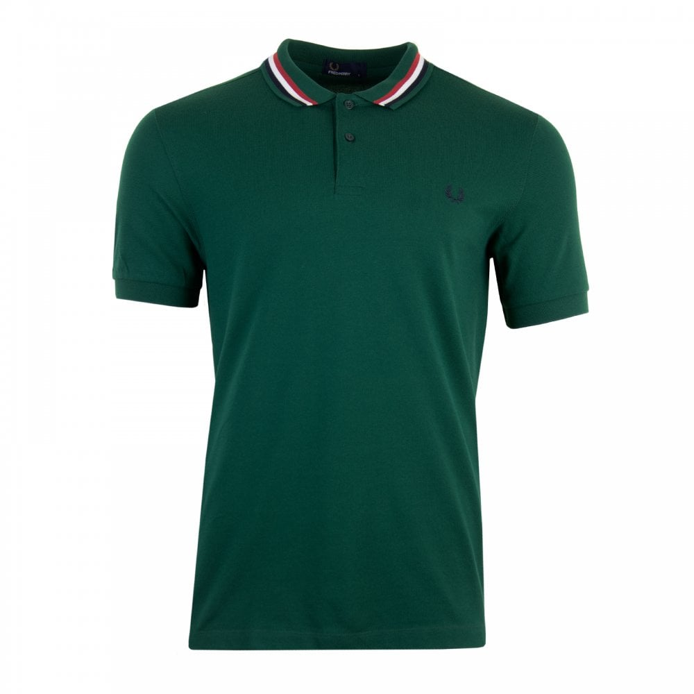 81c5f374 Fred Perry Mens Bomber Stripe Pique Polo Shirt (Ivy) - Mens from ...