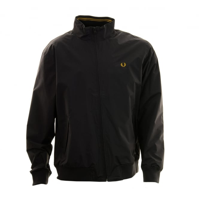Fred Perry Mens Brentham Harrington Jacket (Black)
