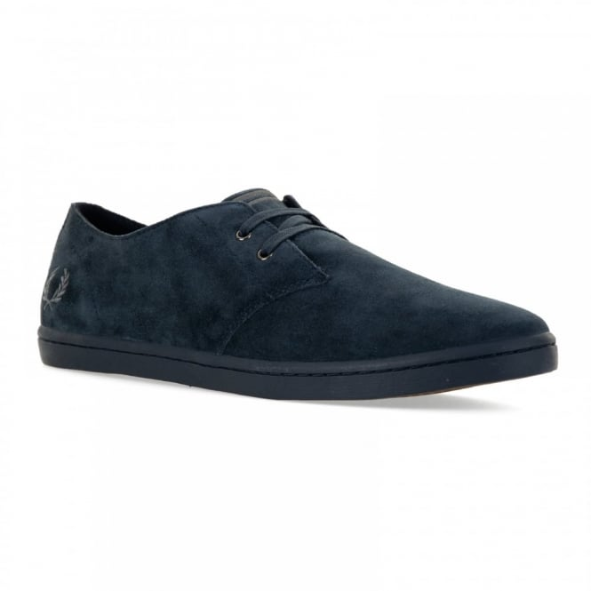 Fred Perry Mens Byron Low Suede Shoes (Navy)