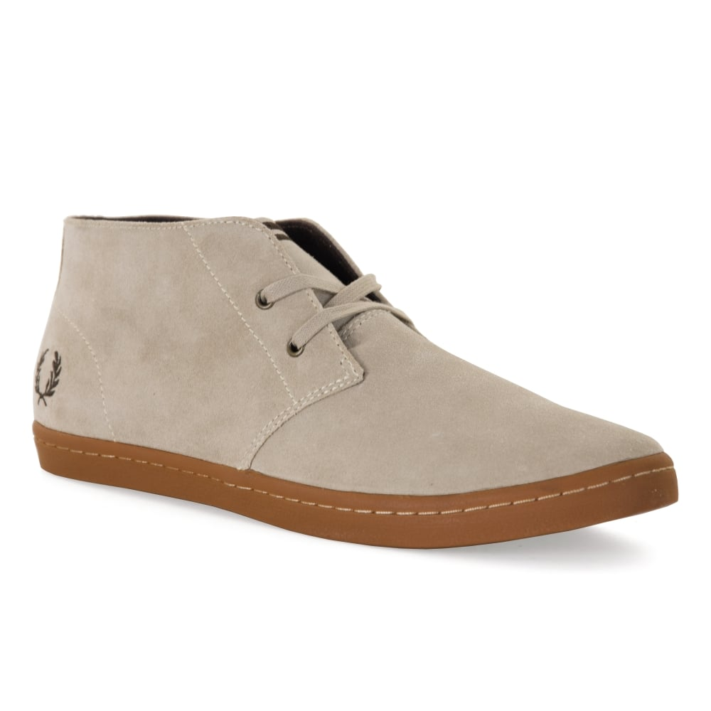 Fred Perry Mens Byron Mid Suede Boots (Sand) - Mens from ...