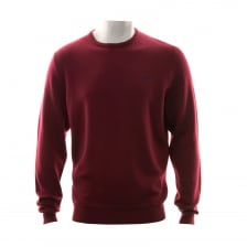 Fred Perry Mens Classic Crew Neck Knitted Sweatshirt (Red)